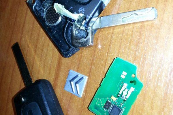 La cover della vostra chiave ha perso un pulsante ?